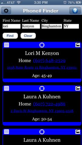 Phone# Find