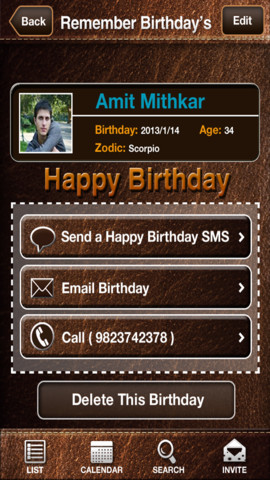 Happy Birthday : Reminder N Invitation