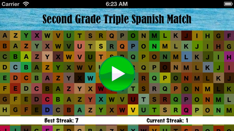 Second Grade Triple Spanish Match