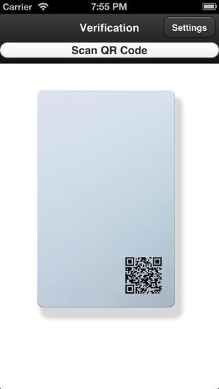 QR Card Verification employee time card