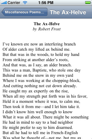 Summary of the ax helve by robert frost
