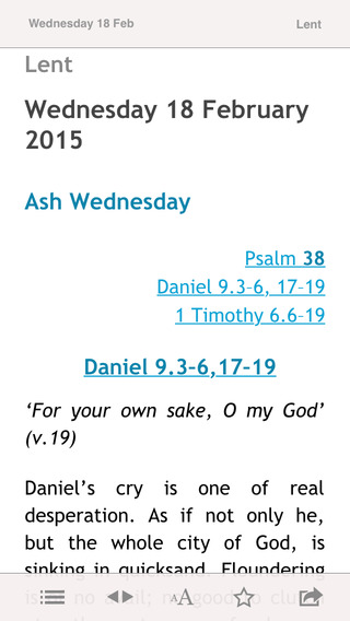 Reflections for Lent Daily 2015: Bible Notes from the Church of England