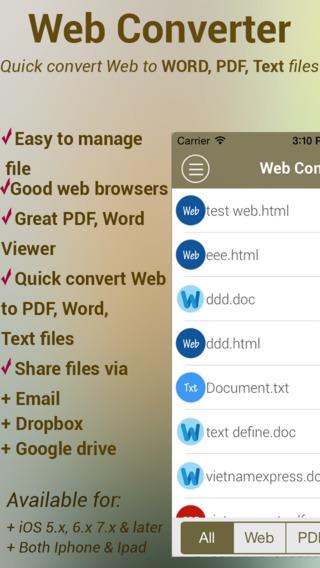 Web Converter Free - Quick convert Web to Word, PDF, Text at tracker web