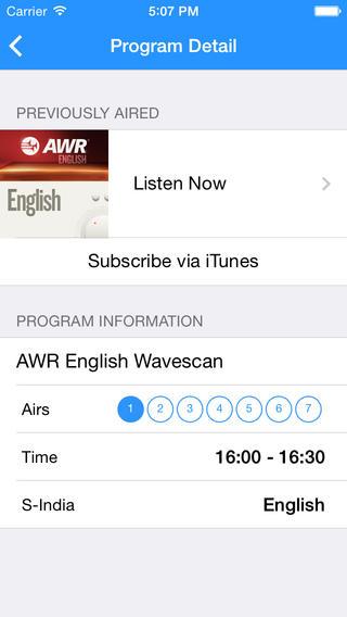 AWR Schedule