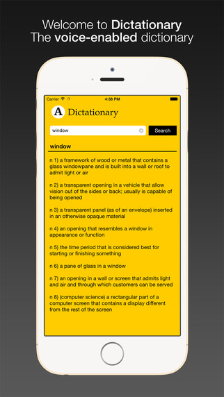 Dictationary - Voice enabled dictionary for iPhone and Apple Watch apple iphone