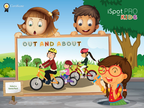 iSpotPro for KIDS - Use scenarios to teach and familiarise children with their surroundings while they play soft surroundings outlet