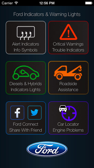 Great App for Ford, with Ford Indicators & Warning Lights ford raptor