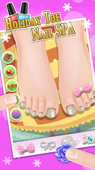 Holiday Foot Nail Art - kids games art games for kids