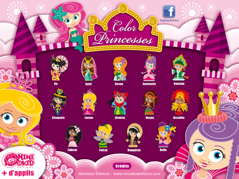 Color Princess Lite - Coloring Exercises for Kids
