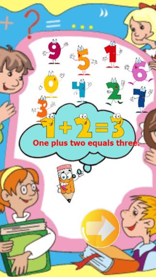 Math fact games English number practice education for kids preschool children development