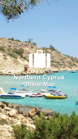 Offline Map Northern Cyprus (Golden Forge) map of northern india