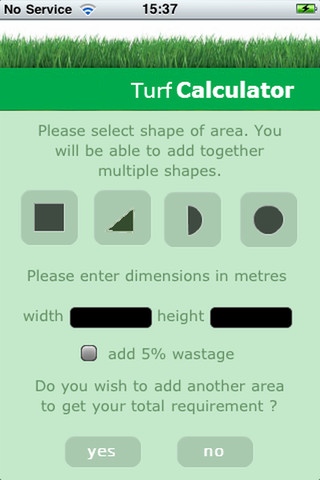 Turf Calculator