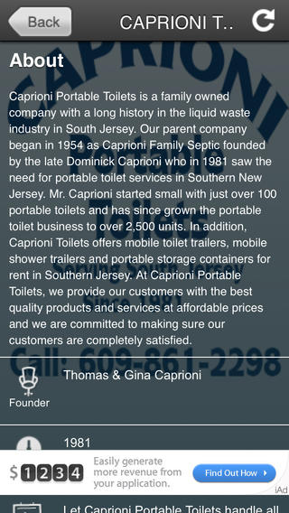 CAPRIONI TOILETS portable screens