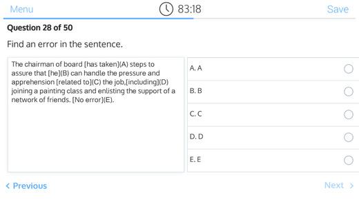 SAT Exam - Writing Prof good sat scores