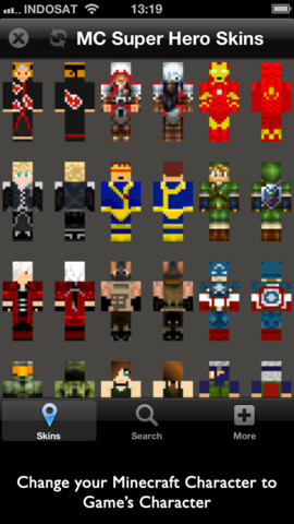 Super Hero Skins for Minecraft 1.0