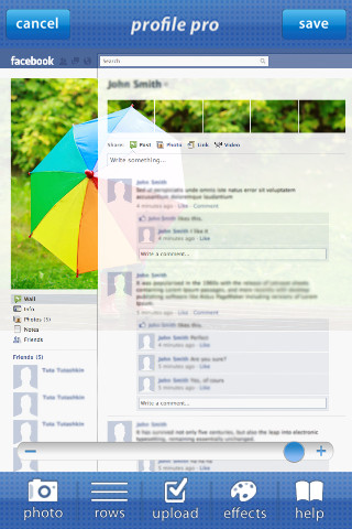 Profile Pro edit my account profile