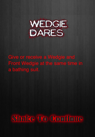 Wedgie dares app for ipad iphone entertainment