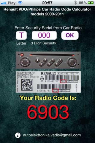 blaupunkt code calculate:
