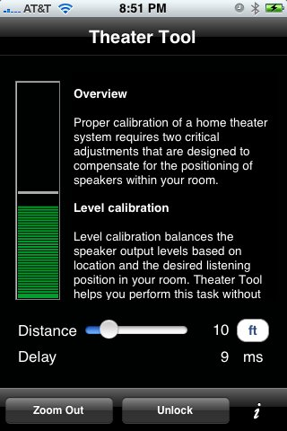 Theater Tool - calibrate your home theater outdoor theater system