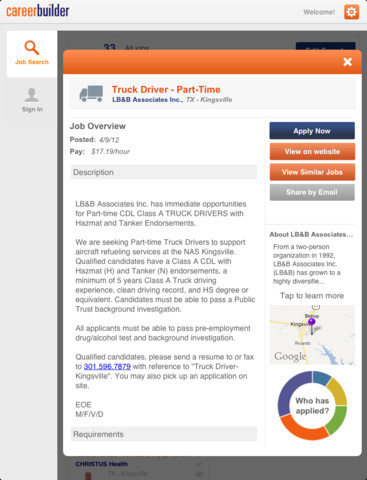 Jobs for iPad