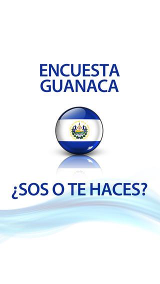 Encuesta Guanaca el salvador flag