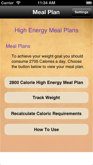 Meal Plans - High Energy 7 Day Meal Plans touring plans