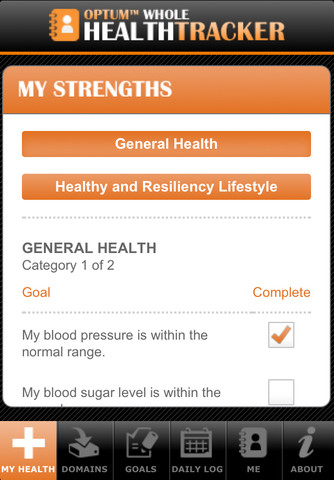 Optum Whole Health Tracker