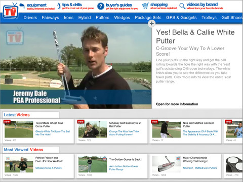 Direct Golf TV golf equipment deals