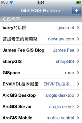 GIS RSS Reader francophiles blogs