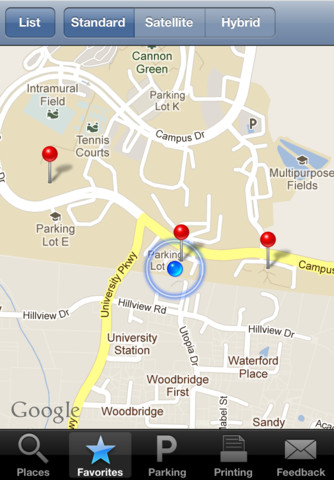 UWF Campus Map App for iPad iPhone Reference