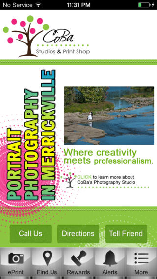 Coba Studios & Print vista printing business cards
