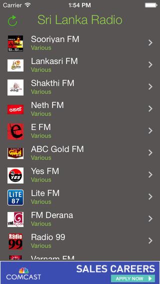 Sri Lanka Radio - Sinhala, Tamil FM stations gossip lanka sinhala