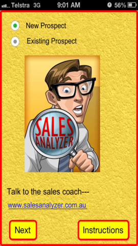 Sales Analyzer salesperson advice