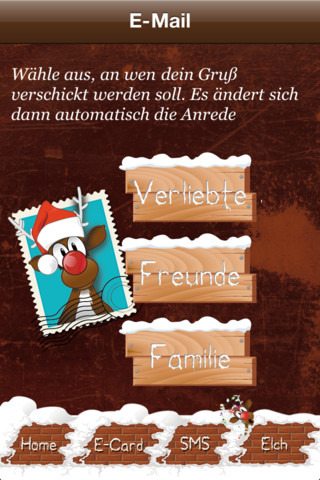 weihnachts elch app for ipad iphone entertainment. Black Bedroom Furniture Sets. Home Design Ideas