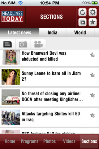 Headlines Today 1.1 App for iPad, iPhone - News - app by ...