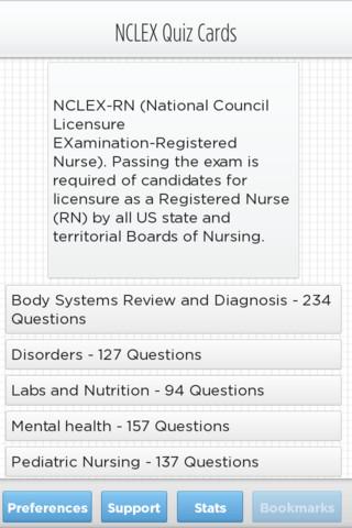 NCLEX Exam Cards