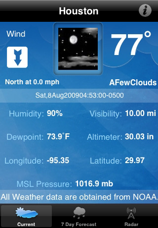 Houston Weather 1.1 App for iPad, iPhone - Weather - app ...