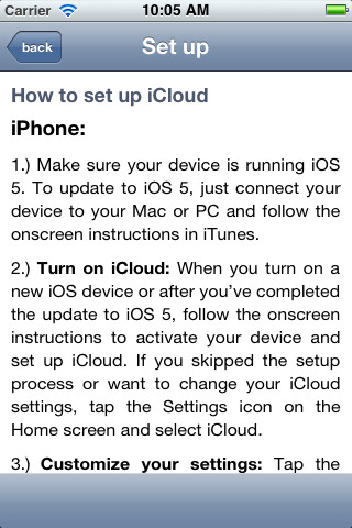 Guide for iCloud