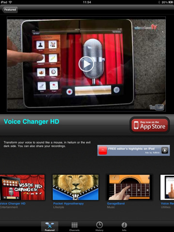 AppTube for iPad