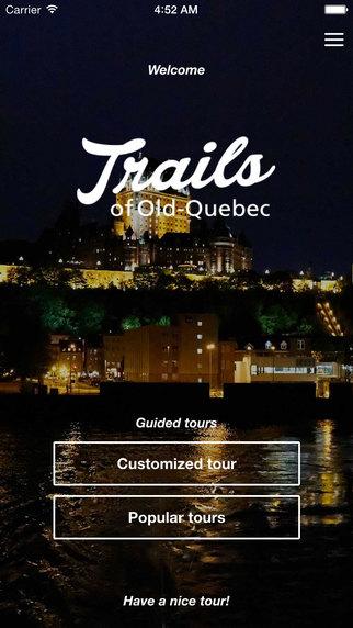 Trails of Old Quebec quebec flag