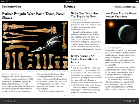 NYTimes for iPad