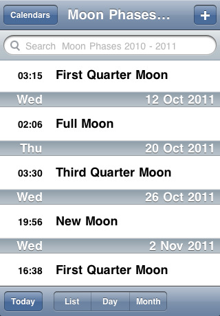 moon phases 2010. Screenshots Moon Phases 2010-