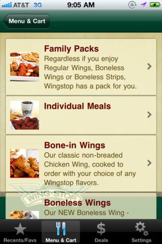 The Wingstop App