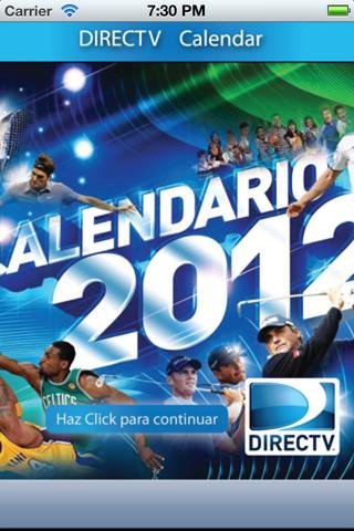 DIRECTV Calendar program directv remote