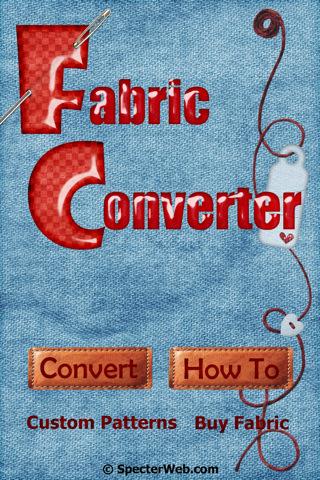 Fabric Converter printing on fabric