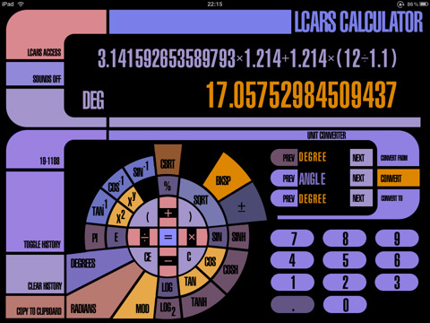 Lcars calculator app for ipad iphone utilities - Lcars ipad app ...