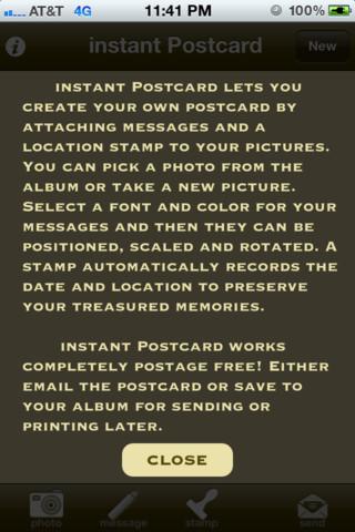 Instant Postcard postcard printing