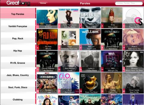 Download parole de chanson ipad ios