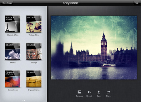Snapseed for iPad
