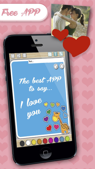 """Create cards of love and designed postcards with messages of love to say """"I love you"""" love"""